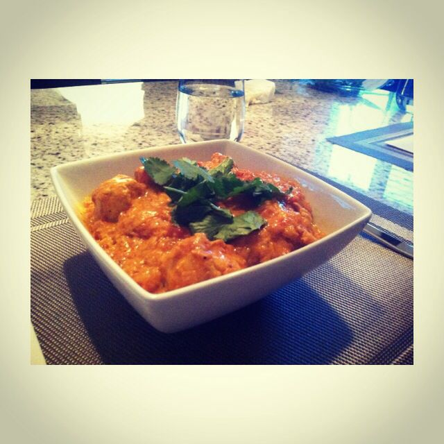 Home made authentic indian butter chicken.