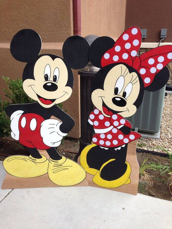 Mickey mouse minnie mouse birthday party props decoration for Deco mickey
