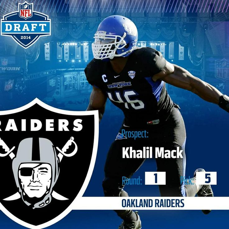 Finally. An excellent first round pick for the Raiders. A big LB that will make an immediate impact to the defense. #oakland #raiders #nflDraft #Khalil #Mack