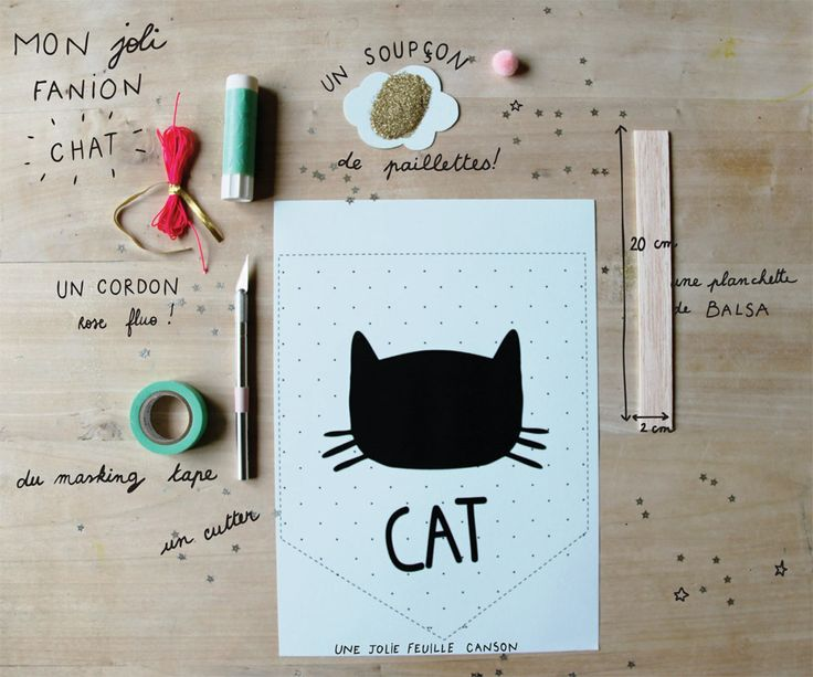 Le fanion Chat (à imaginer pour d'autres animaux)
