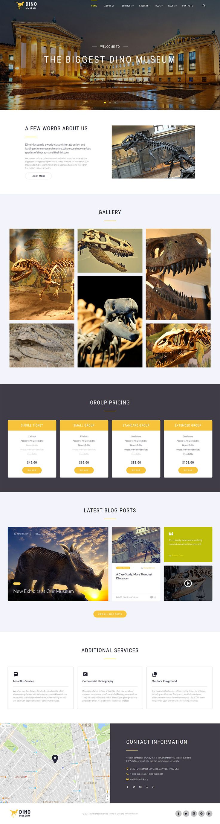 Dino Museum - #business #html5   #website  #template
