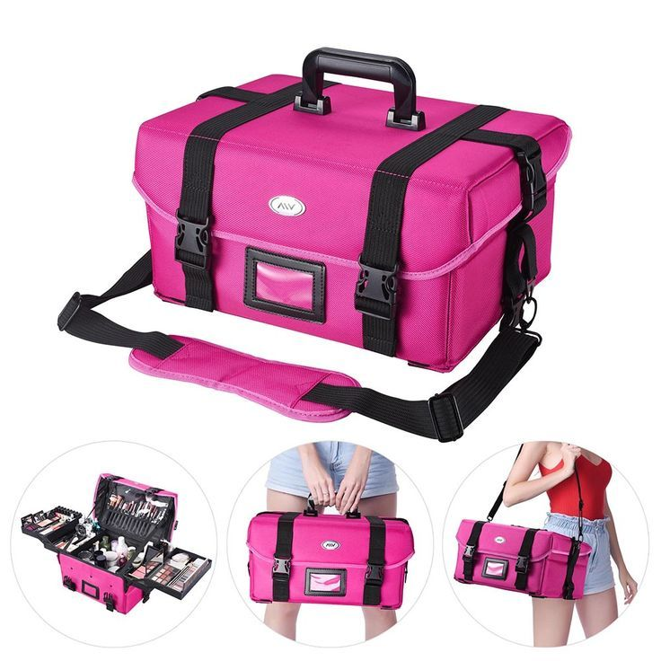Aw Portable Cosmetic Bag Makeup Carry Case Handbag W 4 Retractable Trays Artist Train Travel Storage Organizer Walmart Com In 2020 Cosmetic Bag Organization Makeup Bag Organization Makeup Train Case