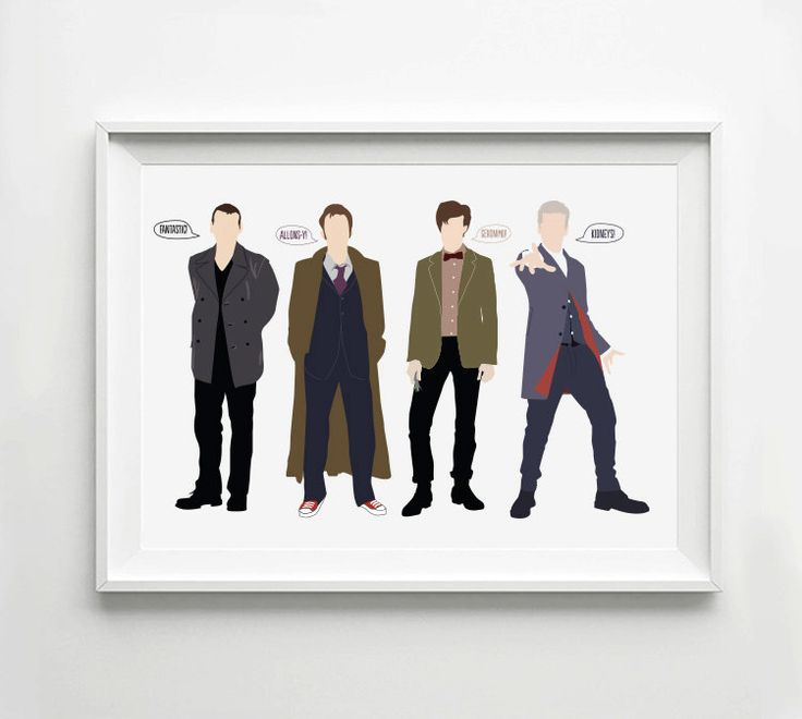 Doctor Who Poster Ninth Tenth Eleventh Twelfth Doctors by POSTERED