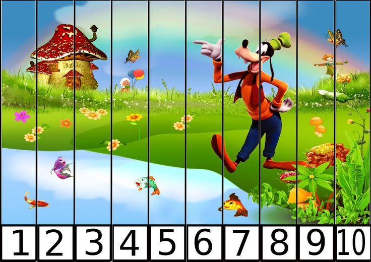 Aprendemos los números del 1 al 10 con estos puzzles de números divertidos