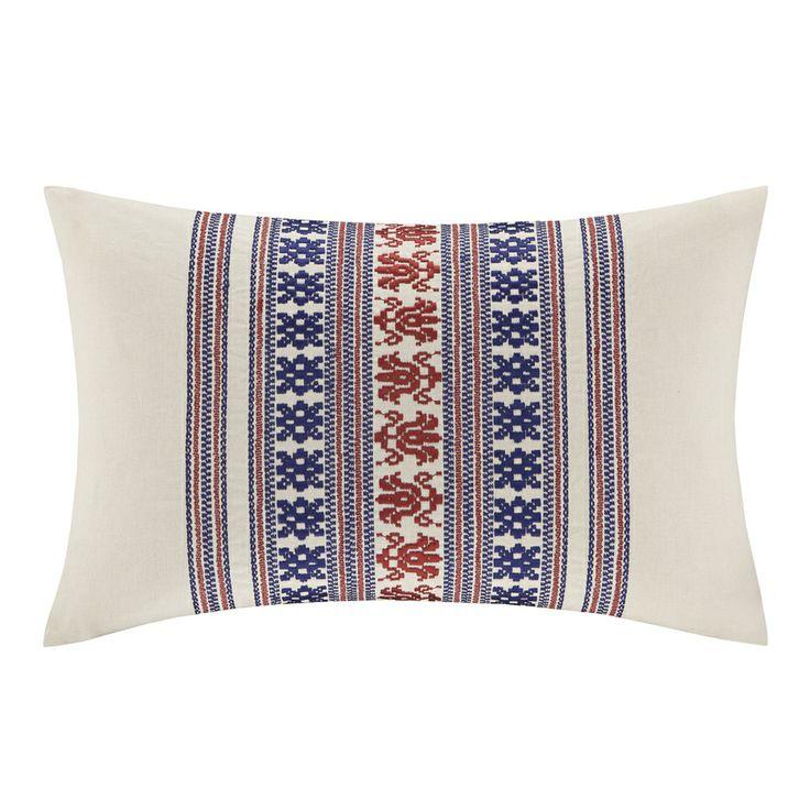 Echo Design Throw Pillows : Echo Design Cozumel Oblong Off-white Embroidered Pillow by Echo Throw pillows