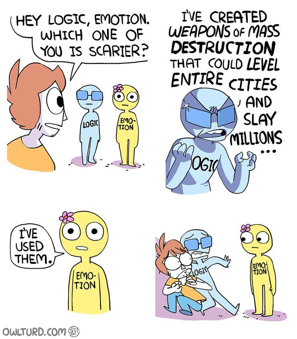 Owlturd. Hey logic, emotion, which one of you is scarier.