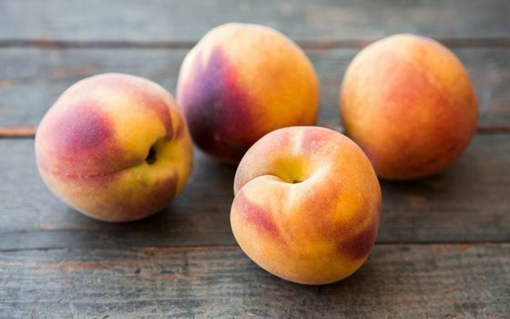 Fruit Fun Fact:  Did you know that peaches fall into one or two classifications -- freestone, in which case the stone or pit falls easily away from the flesh, and clingstone -- where the fruit adheres stubbornly to the pit?