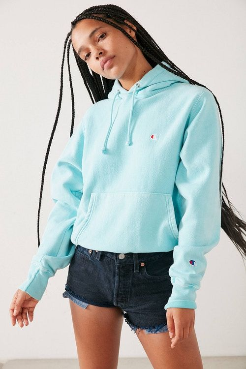 This Champion Hoodie Hits a Summery Sky Blue Note