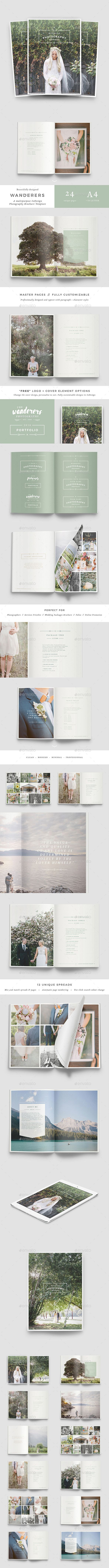 Wedding Photography Brochure  — InDesign Template #minimalist #pricing brochure…