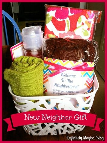 Housewarming/neighbor welcome gift ideas