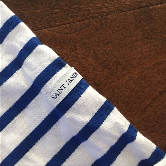 Saint James Tops - Saint James Nautical stripe 3/4 tshirt