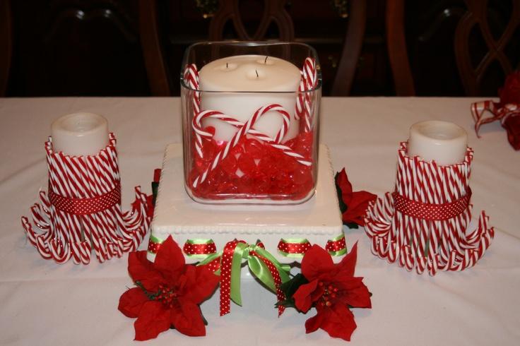 Candy cane christmas decor holiday