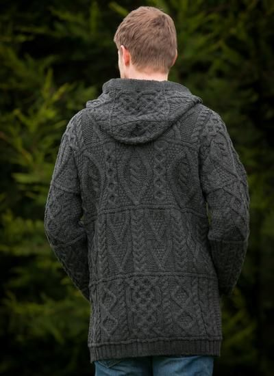 Aran Hooded Coat by Natallia Kulikouskaya for Aran Crafts of Ireland