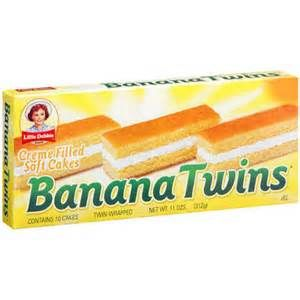 Little Debbie: Creme Filled Soft Cakes Banana Twins, 11 Oz