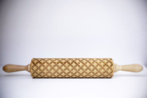 Very cool embossed rolling pins on Etsy to roll designs right onto pastries and cookies.