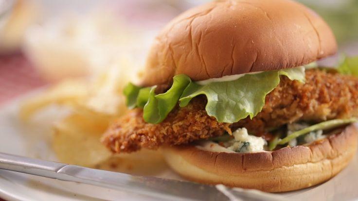 Crispy Buffalo Chicken Sandwiches- Everyday Food with Sarah Carey - YouTube