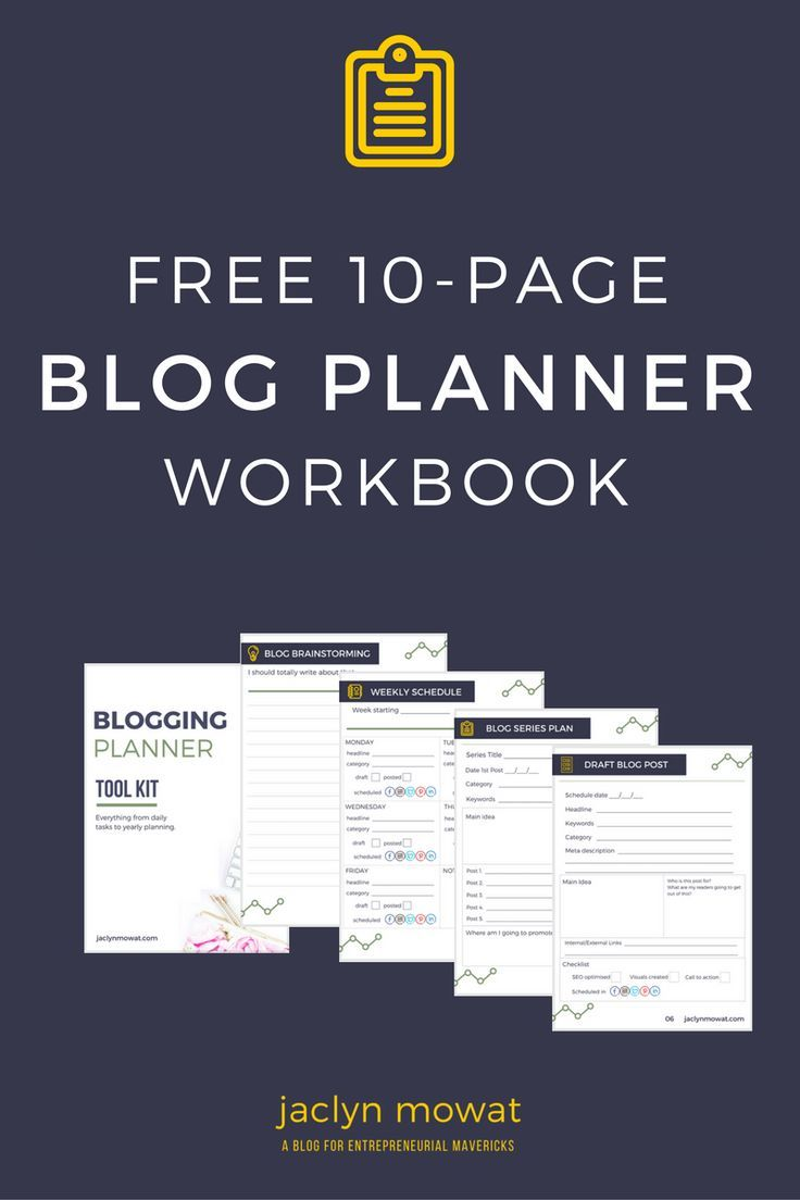 If you struggle to find idea's for your blog, or remain consistent with publishing new content or sometimes forget to do certain things to optimise a blog post, then you need this blog planner workbook. Let's get your blog organised, download the free planner now.