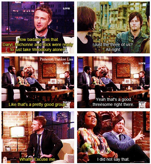 The Walking Dead - Norman Reedus and Talking Dead - Chris Hardwick
