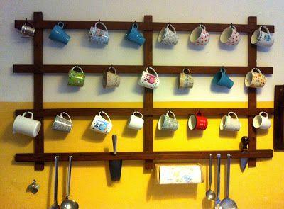 Tassenhänger, Tassen, Küche, Cup-hanger, appendi tazze, étagère pour les tassesbricolounge
