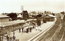 Chatswood Railway Station in the Upper North Shore of Sydney in 1900.