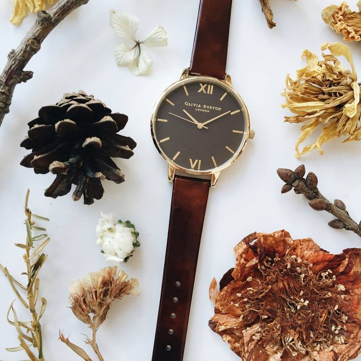 Our first ever tortoise shell watch, it has a patent strap too! <3 #oliviaburton