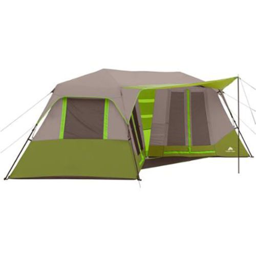 Cabin-Tent-Instant-Camping-8-Person-Green-Outdoor-Shelter-Family-Hiking-Travel