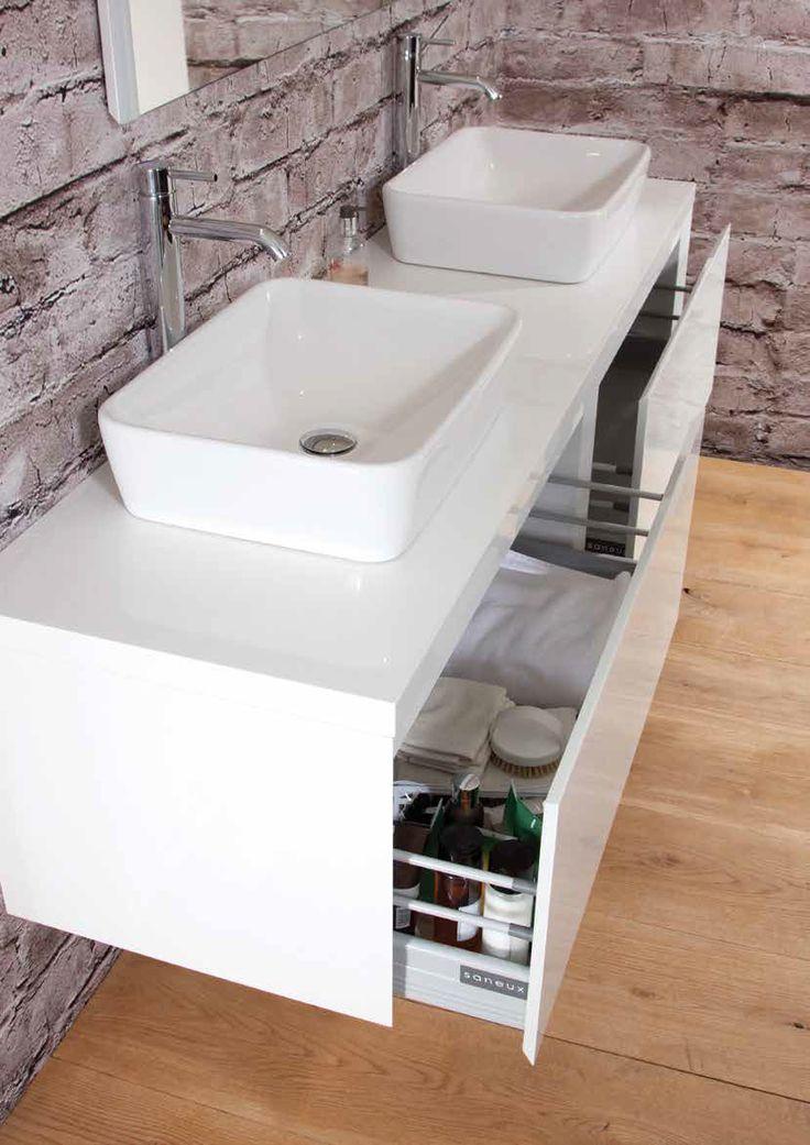 White Podium Basins And Units. We Love The Sit On Basins Images