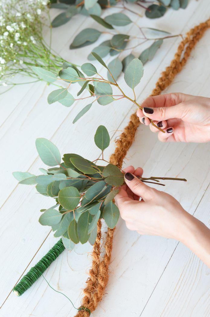 Eucalyptus Wedding – Deel 2: Zelf de slinger binden   Blumigo  – finale Pläne