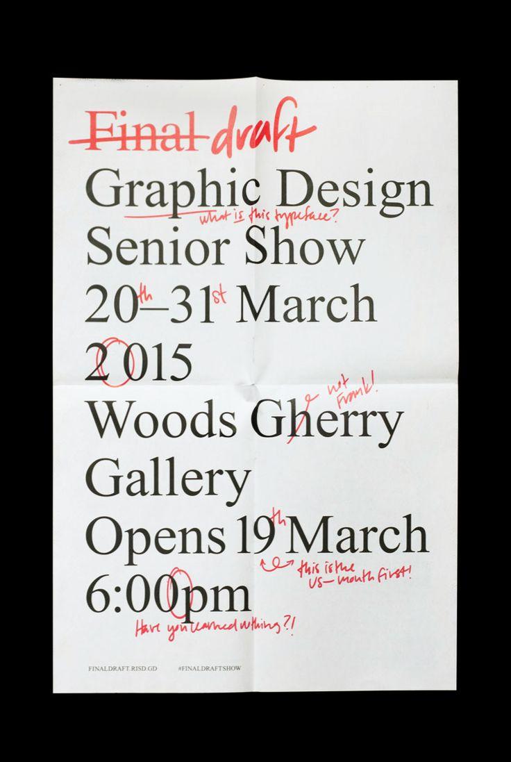 garadinervi: Rachel Ossip (copywriting) & Chloe Scheffe (handwriting, throughout) (+ Stephanie Low)Final draftgraphic design senior show at RISD's Woods-Gerry Gallery, 2015