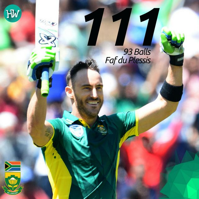 The South African skipper led from the front and snagged the Man of the Match award! #SAvAUS #SA #AUS #cricket