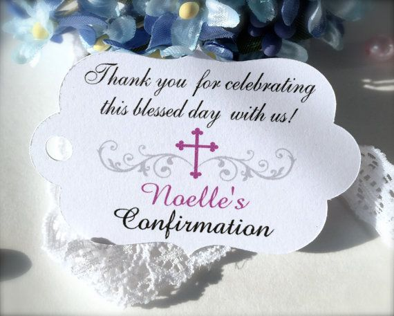 Baby baptism favor tags christening favor tags by PaperLovePrints