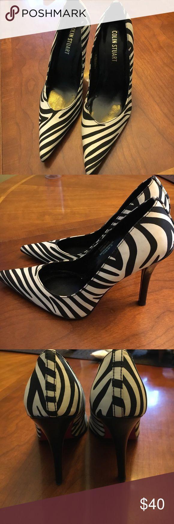 Colin Stuart Zebra Heels Only worn once. Excellent condition! Colin Stuart Shoes Heels