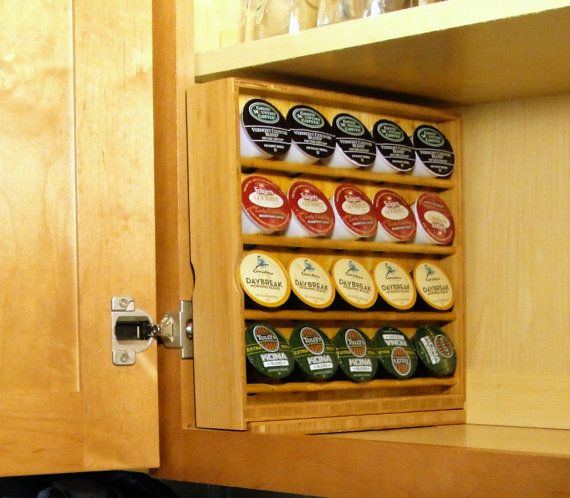 K-Cup Storage For Kitchen Cabinets, left hand opening cabinet