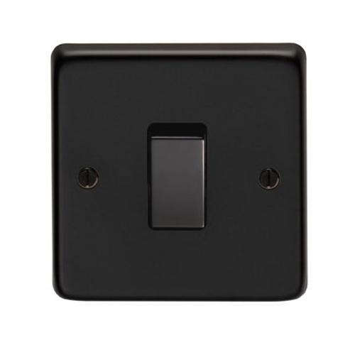 Matt Black Single Light Switch - This single switch socket is a high quality product, with a matt black finish. Stylish and modern, it is equally suited to a new home as well as a period one.