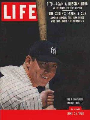 Life Magazine cover June 1956  Mickey Mantle