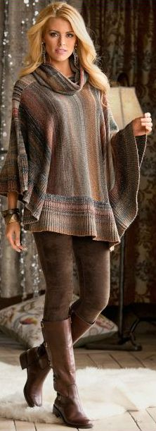 I love this outfit. I really really need to start knitting again. The boots rock…
