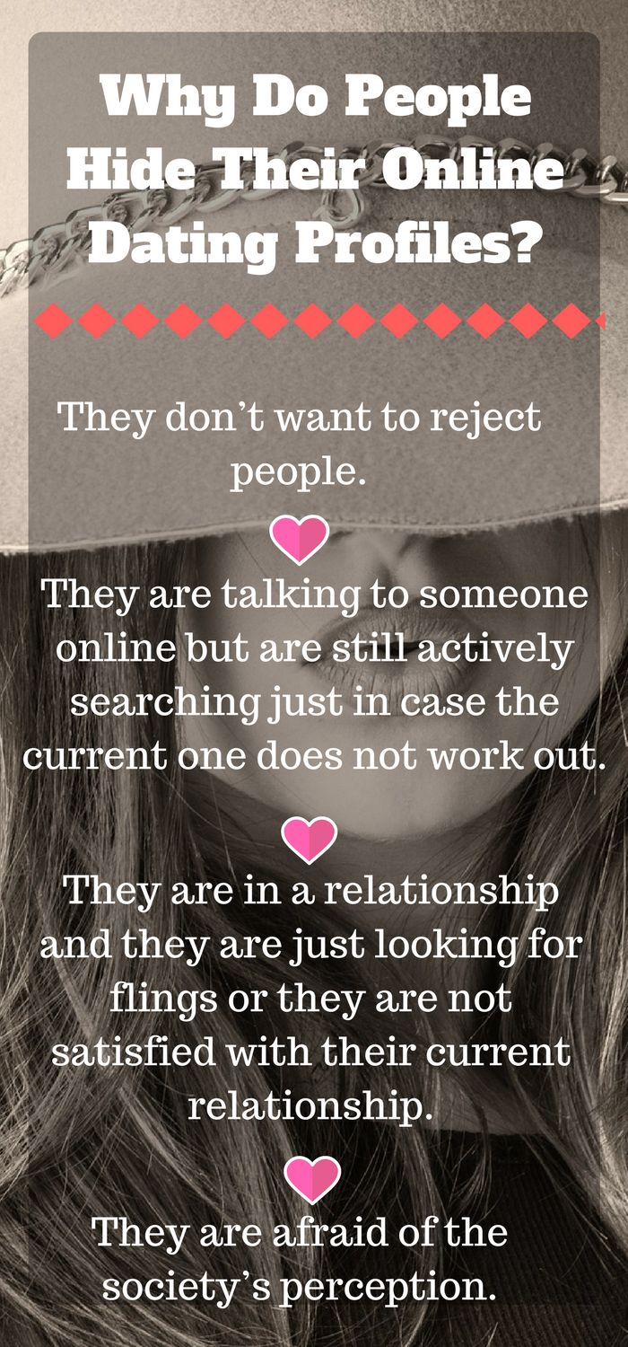 Why Do People Hide Their Online Dating Profiles?    Learn the secret why there are hidden datingadvice profiles.     #onlinedatingsites #datingadvice  #datingcoach #datingprofile #onlinedatingtips #onlinedating #dating #datingprofiletips