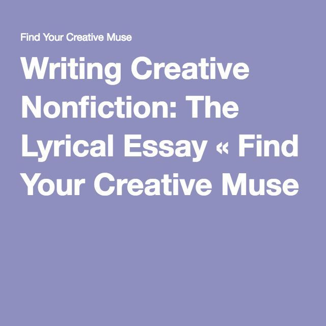 lyric essay creative nonfiction