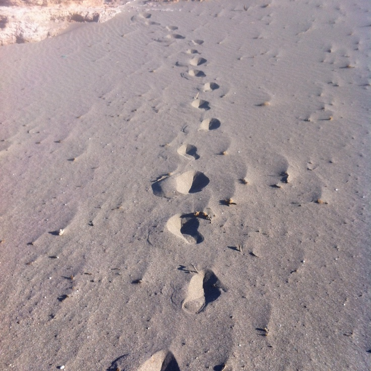 Footsteps in sand (near Jyrokampos beach)