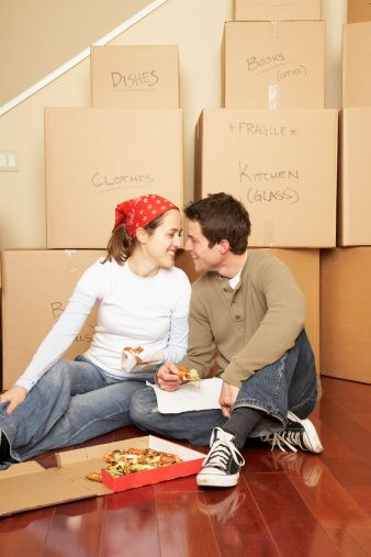 "DEF doing this. Take a ""First Home Picture"" while moving in to use as a moving announcement for friends/family!"