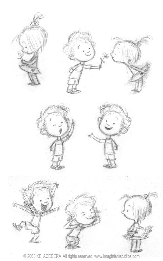 find this pin and more on drawing children - Kids Sketches