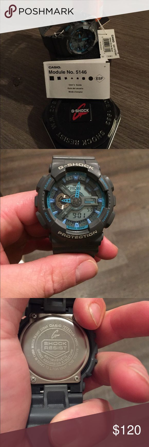 Grey and baby blue G Shock Mint condition grey and baby blue Casio G Shock G-Shock Accessories Watches