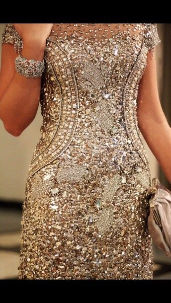 dress sparkly dress cream neutral pretty