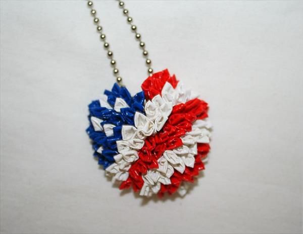 Duct Tape Heart Necklace @101ductapecrafts