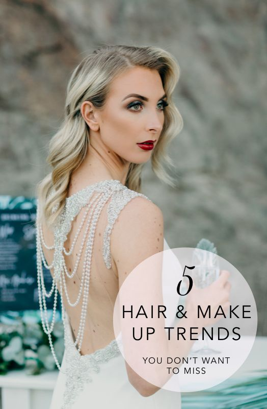 See what is trending this season in bridal hair and make up. Your wedding planning in Spiring 2017 just got better! #weddinghair #weddingmakeup #bridaltrends #hairandmakeuptrends #weddingplanning #weddinginspiration