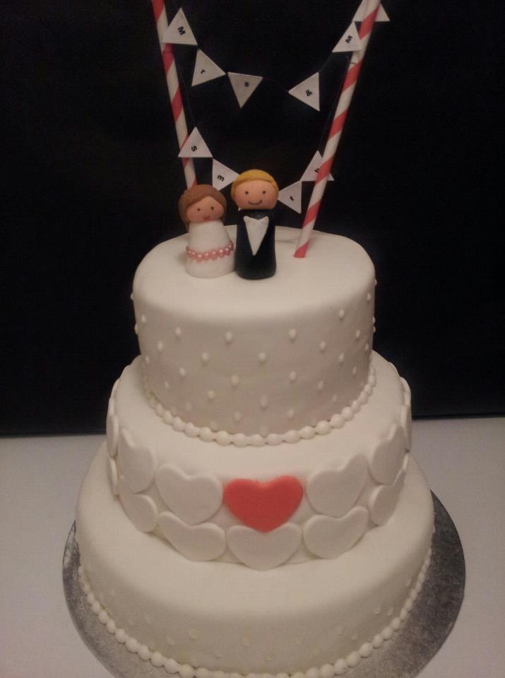 Mr & Mrs Smit wedding cake
