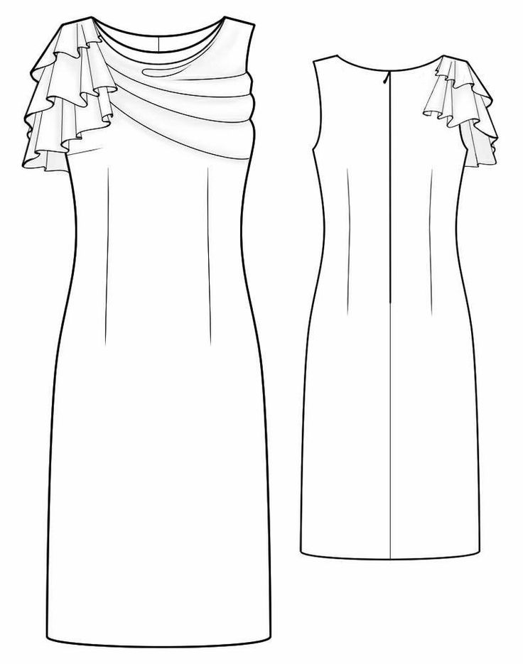 Jurk - Naaipatroon #2025. Made-to-measure sewing pattern from Lekala with free online download. Fitted, Darts, Pleats, Buttoned, Jewel neck, Stand collar, Long sleeves, Set-in sleeves, Cuff sleeves.
