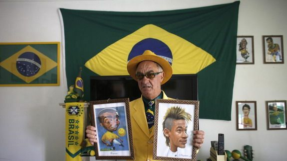 Brazil superfan wears only team colours for 20 years