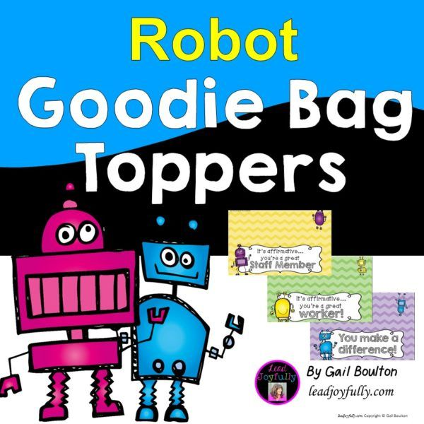 Goodie Bag Toppers (Robot Theme)