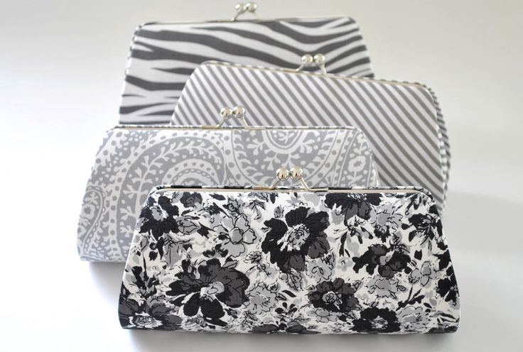 CUSTOM CLUTCH - Gray Clutch -Bridesmaid Clutch- You choose the fabric by Vanijja on Etsy https://www.etsy.com/listing/154428305/custom-clutch-gray-clutch-bridesmaid